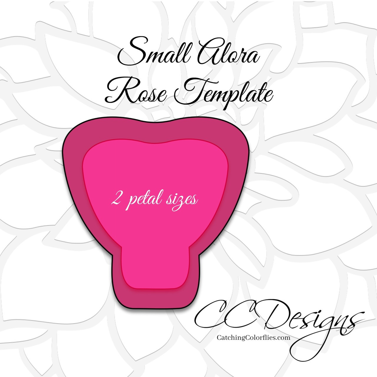 Small Alora Paper Rose Template Catching Colorlfies