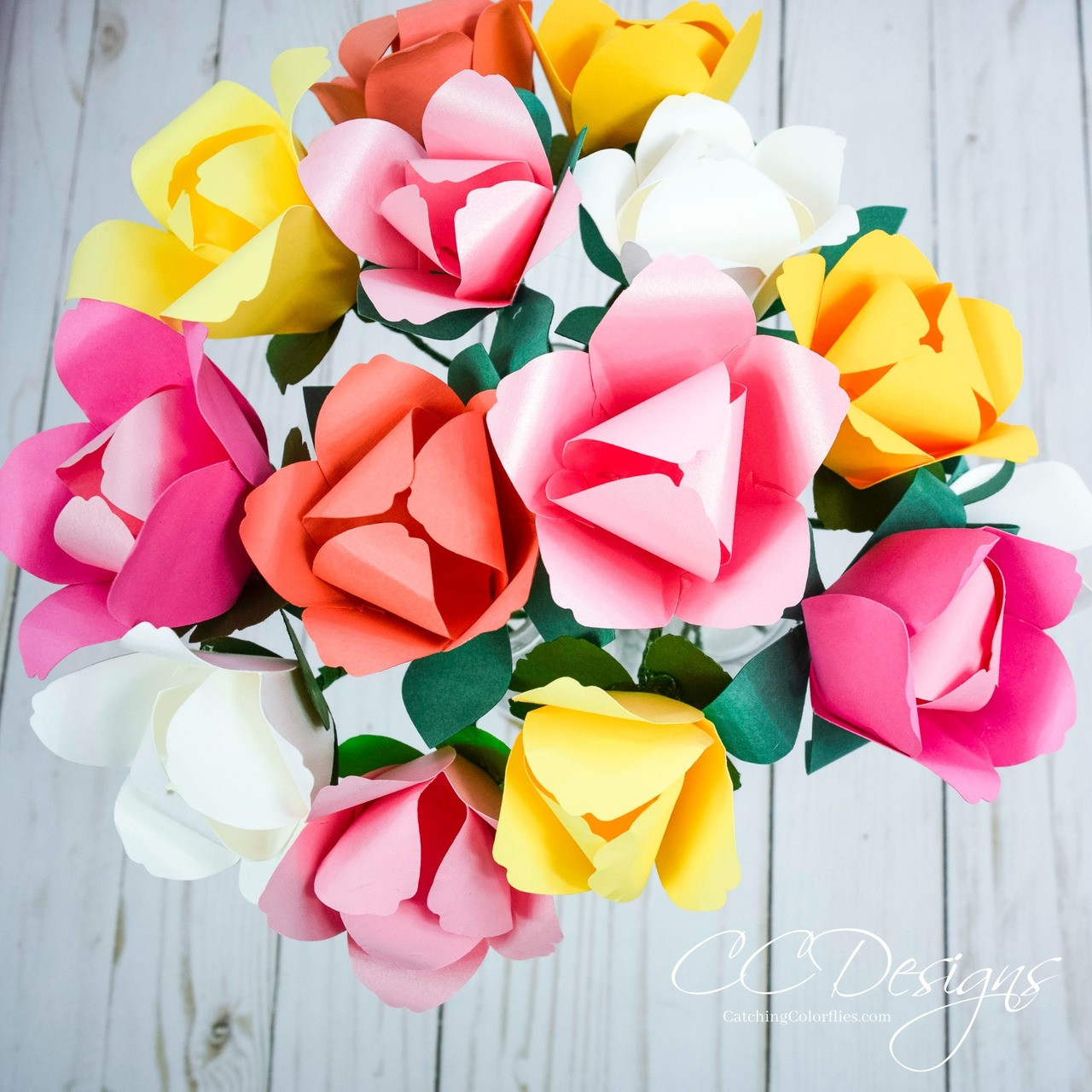 Tulip Paper Flower Templates Small Easter Tulip Catching Colorflies