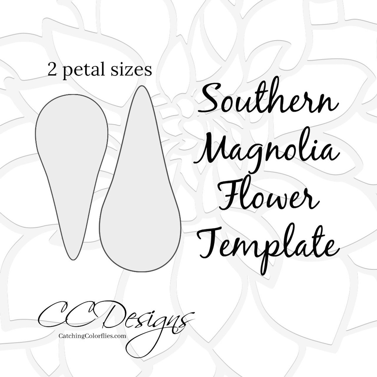 Southern magnolia paper flower template catching colorflies digital download southern magnolia paper flower template maxwellsz
