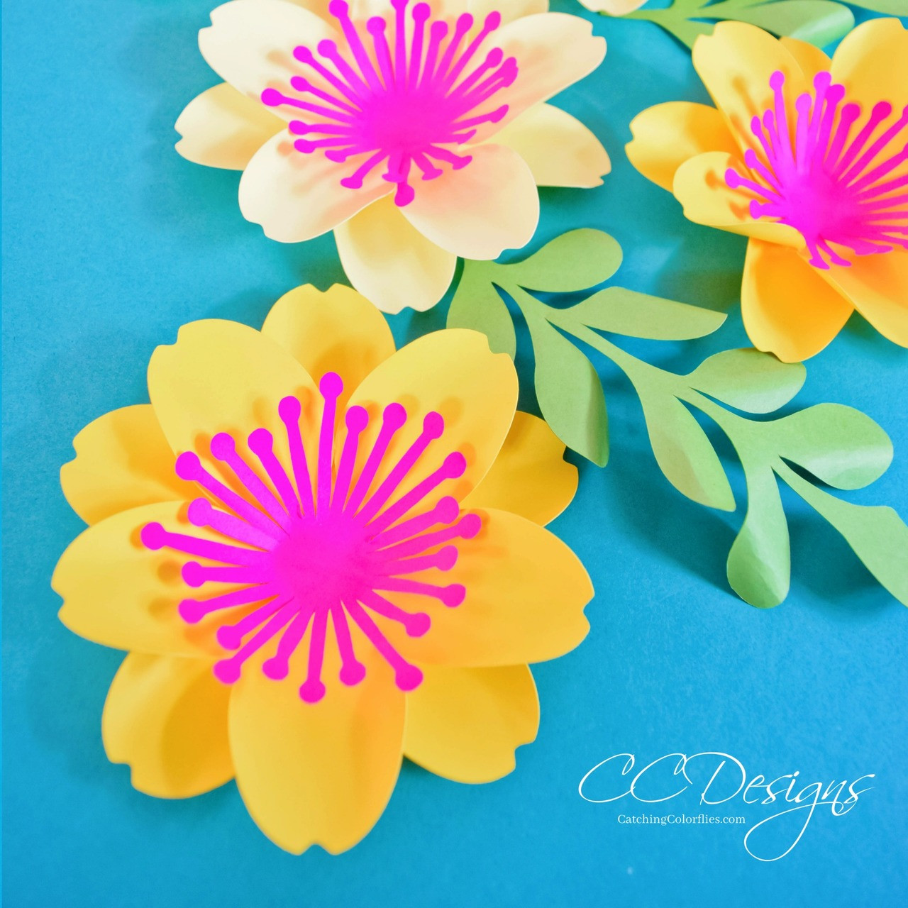 Paper Flower Templates And Tutorial Mary Jane Paper Flower