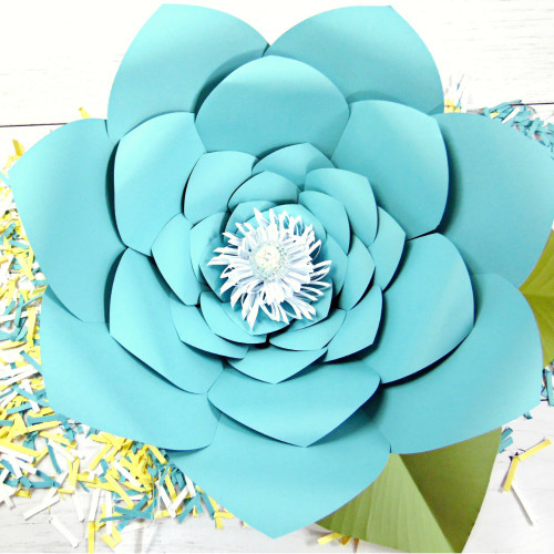 Jasmine Style Giant Paper Flower Templates-XL - Catching Colorflies