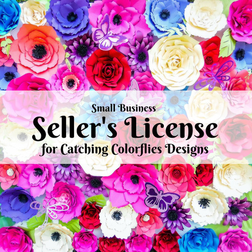 New improved paper flower sellers license catching colorlfies paper flower sellers license mightylinksfo