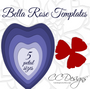 Giant Bella Style Paper Flower Templates