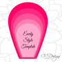 Set of 4 Giant Flower Templates