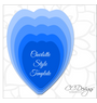 Set of 2 Charlotte & Scarlet Style Flower Templates