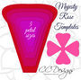 Set of 5 Giant Flower Templates- Hard Copy Templates