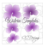 Hanging Paper Wisteria Flower Templates