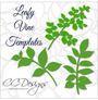 Leafy Vine Set, Leaf SVG Template