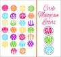 SVG - Circle Monogram Alphabet Letters