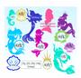 Mermaid Monogram SVG Cut Files