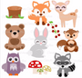 Baby Woodland Animal SVG Cut Files