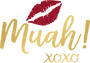 Muah Kissing Lips SVG cut file