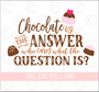 Chocolate Is The Answer SVG Cut File
