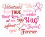 Valentines Words SVG Cut Files