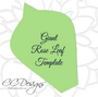 Giant Rose Template Set