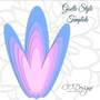 Set of 5 Giant Flower Templates- DIY Paper Flower Wall