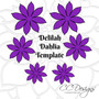 Delilah Dahlia Style Paper Flower Template