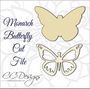 Monarch Butterfly SVG Cut File and PDF Template