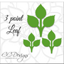 3 point leaf template