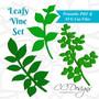 Leafy vine templates