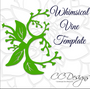 Whimsical Vine Leaf Template