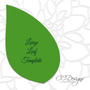Giant Paper Priscilla Flower Template with Tropical Leaves