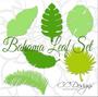 Printable Tropical Leaf Template Set