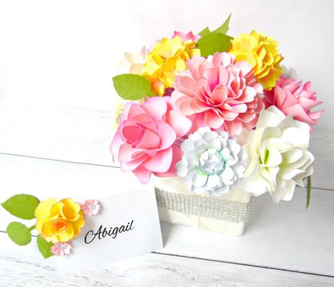 DIY Paper Floral Centerpiece