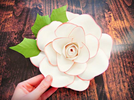 Paper Christmas Rose Tutorial