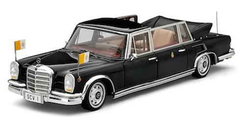 TSM 1:43 1965 Mercedes-Benz 600 Landaulet Limousine Pope Paul VI