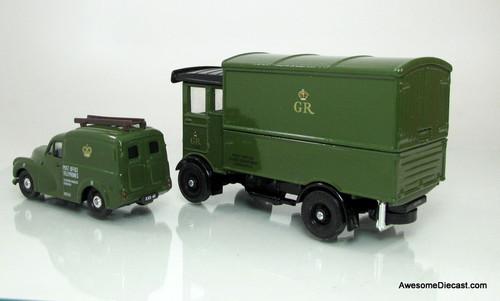Corgi GPO Telephones - CE Morris Minor Van & AEC Cabover Van Set