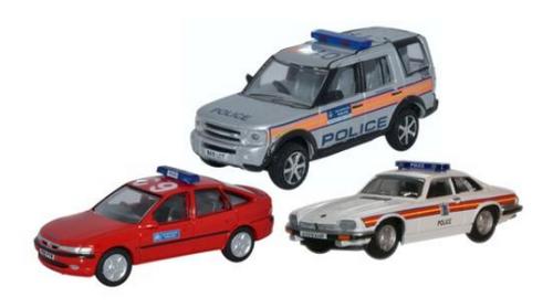 Oxford Diecast 1:76 3 Vehicle Metropolitan Police Set