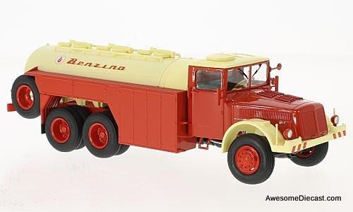 Premium ClassiXXs 1:43 Tatra 111 C Petrol Tanker Truck, cream/red