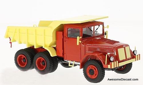 Premium ClassiXXs 1:43 Tatra 147 DC-5 Dump Truck, Red/Yellow