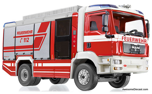 Wiking 1:43 MAN TGM Rescue / Fire Truck: Rosenbauer AT LF