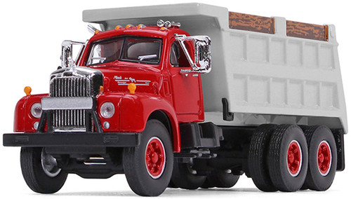 First Gear 1:64 Mack B-61 Dump Truck Red / Black