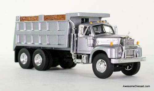 First Gear 1:64 Mack B Dump Truck / Silver