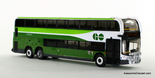 Iconic Replica 1:87 Alexander Dennis Enviro 500 Double Decker Bus w/ Bike Rack: GO Transit