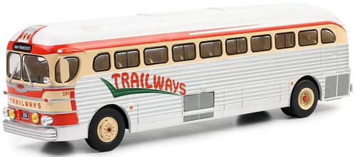 IXO 1:43 1955 GM PD3751 Motorcoach: Trailways