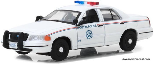 Greenlight 1:43 2010 Ford Crown Victoria Police Interceptor : United States Postal Service (USPS)