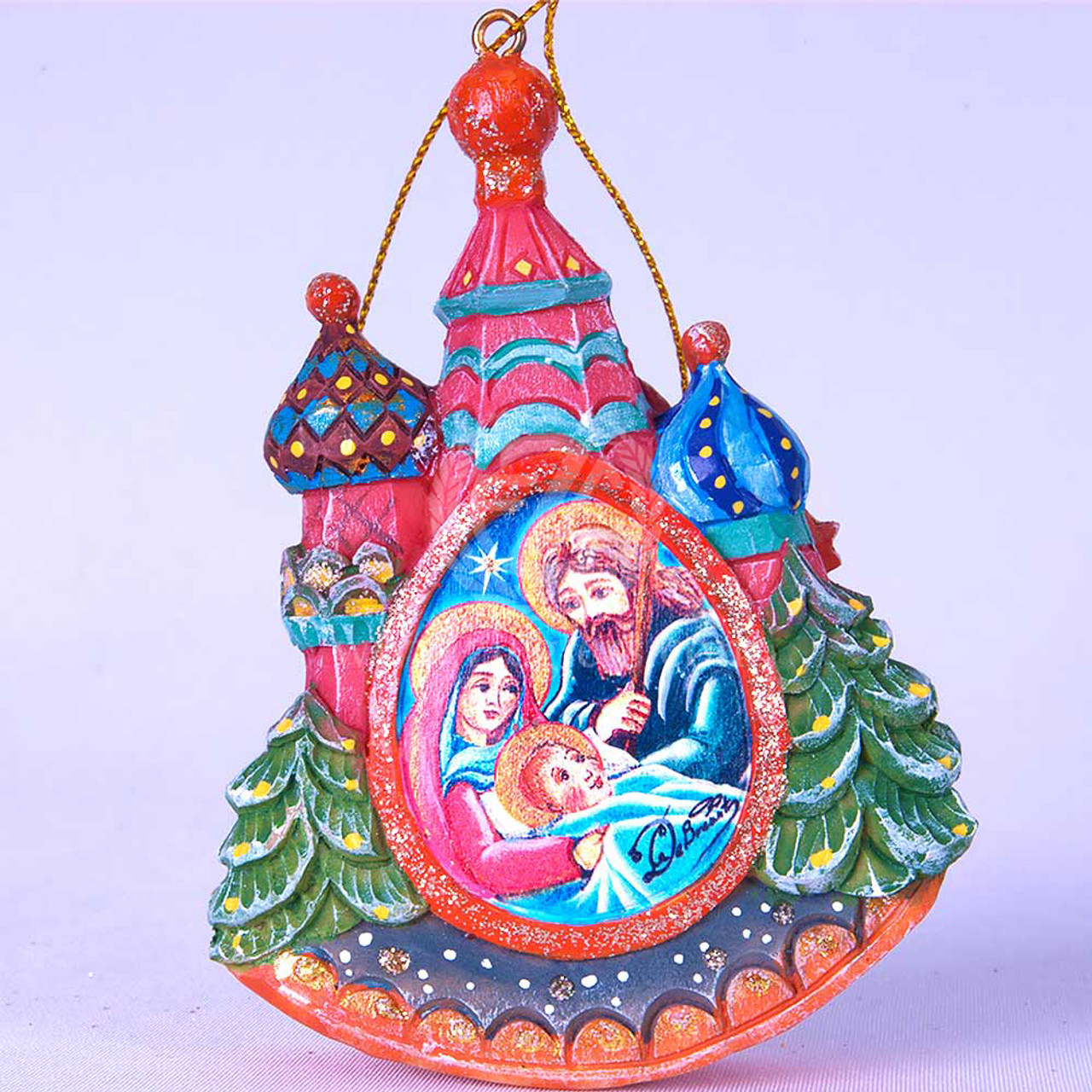Holy Family Christmas Ornament | Russian Minarets | Hand ...
