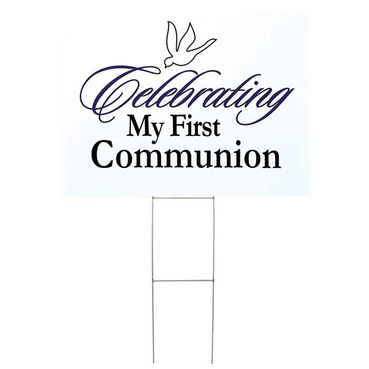 Celebrating! | First Holy Communion Yard Sign | 18"|1280|1280|?|8eb364ab688b41184075479f6d99ae43|False|UNLIKELY|0.3623022437095642