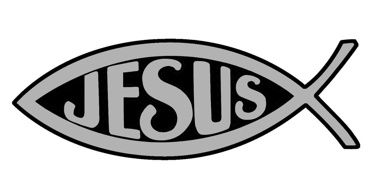 Christian Fish Car Magnet With Jesus Silver 5 Fc Ziegler