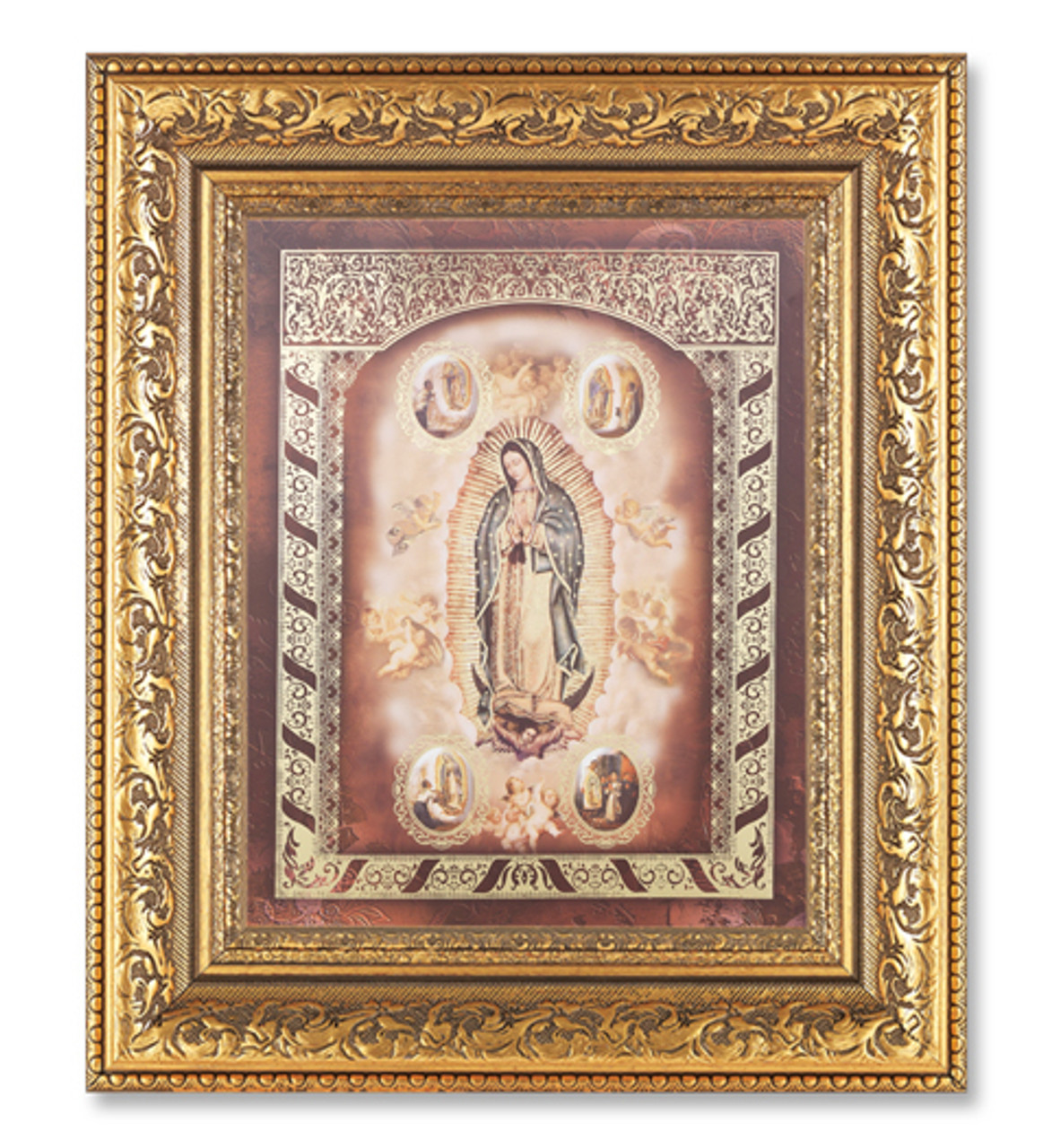 Our Lady Of Guadalupe Framed Print Antique Gold 115211g Fc