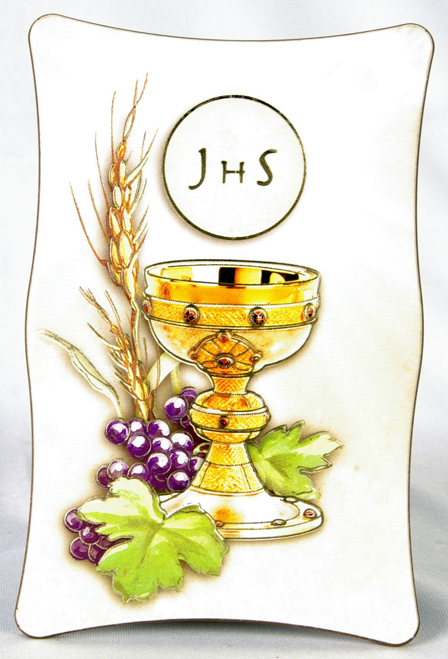 Blessed Sacrament With Wheat & Grapes   First Communion Plaque ...