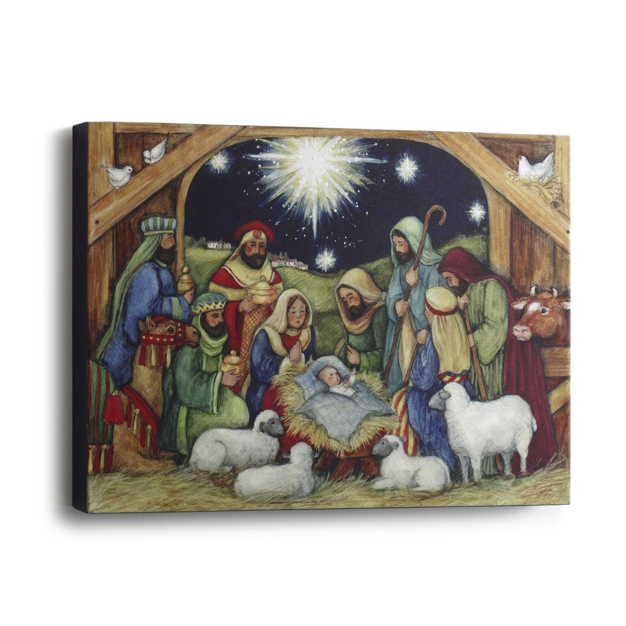 Holy Night Print | Nativity Scene | Canvas | Framed 12 "|1280|1280|?|61ce6ede6708ec1eb4c181fc7351ebaf|False|UNLIKELY|0.3688216507434845