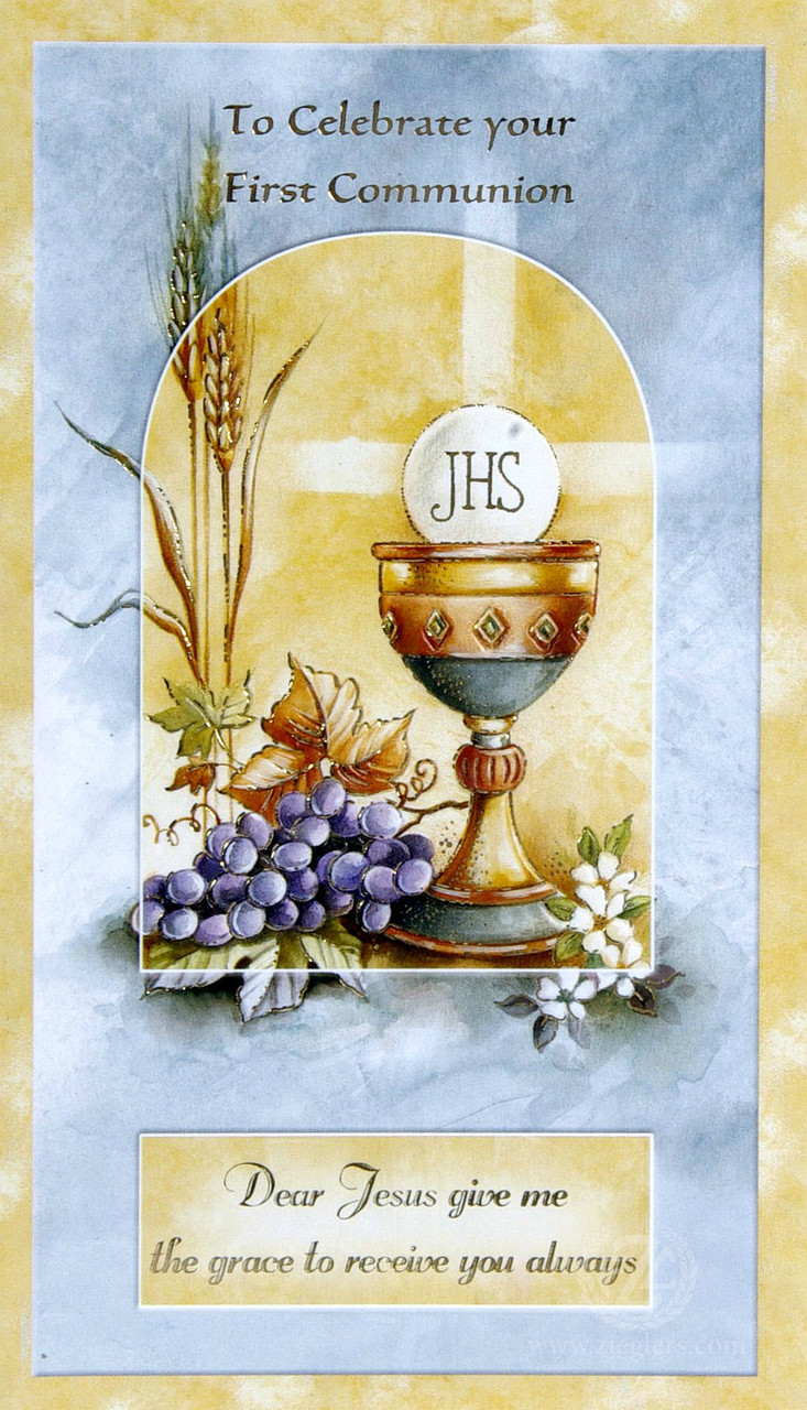 First Communion Greeting Card General Style 1131007 Fc
