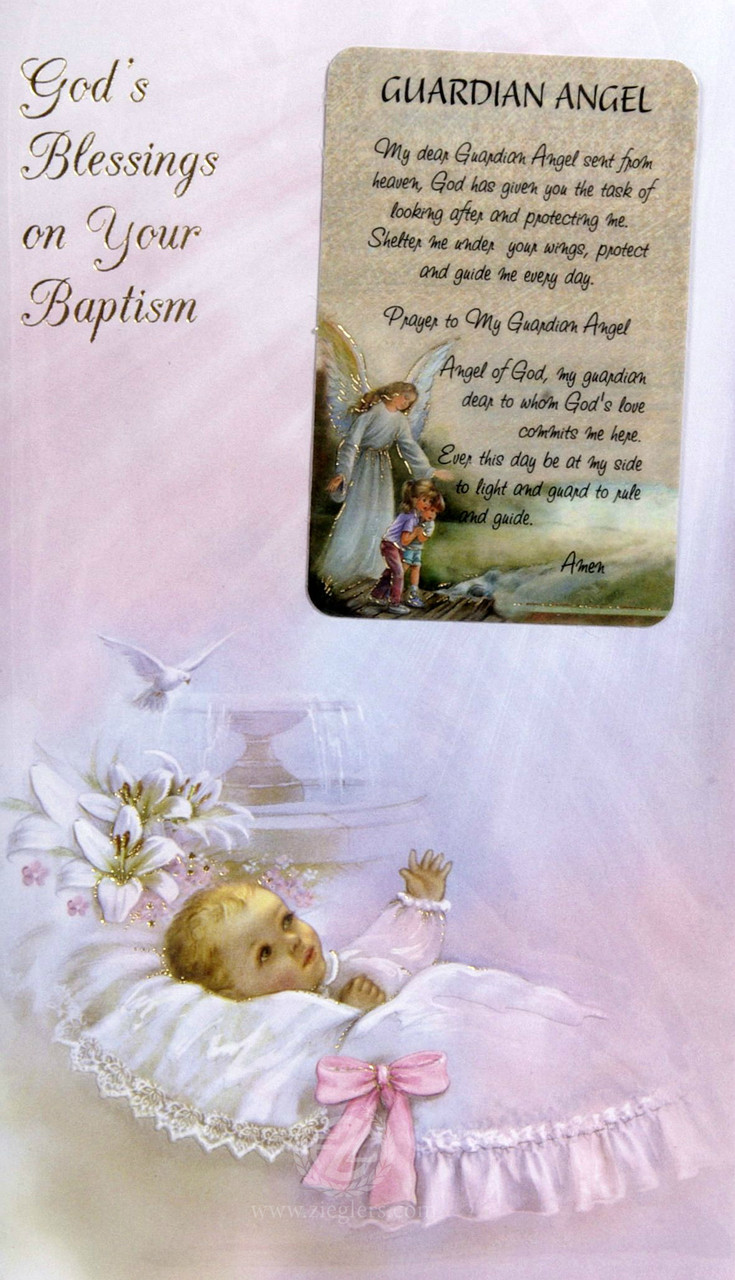 Baby Baptism Girl Greeting Card Style 113219 Fc Ziegler