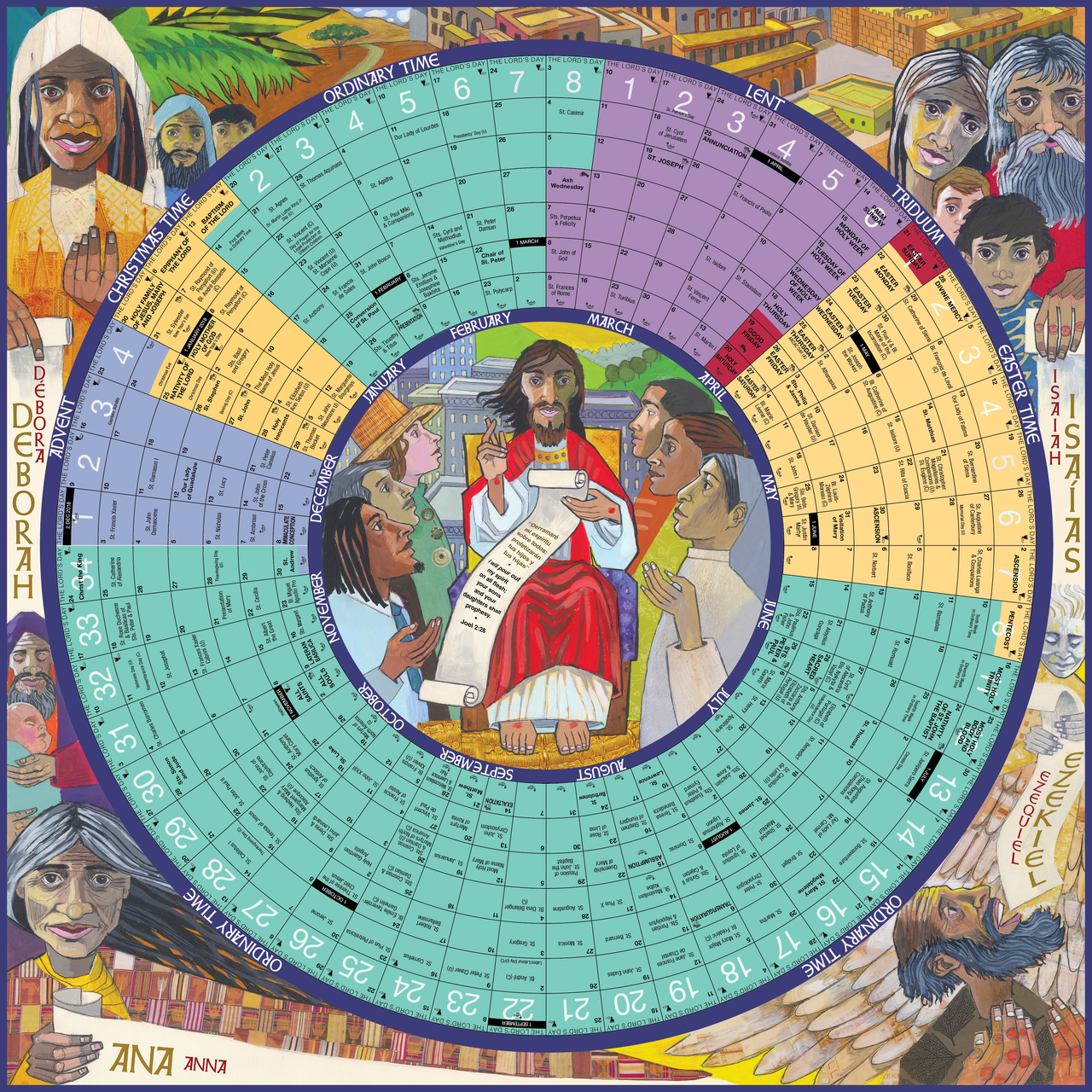 2019 year of grace liturgical calendar poster 24 by 24 inch sheet 9781616714062 yg19lp