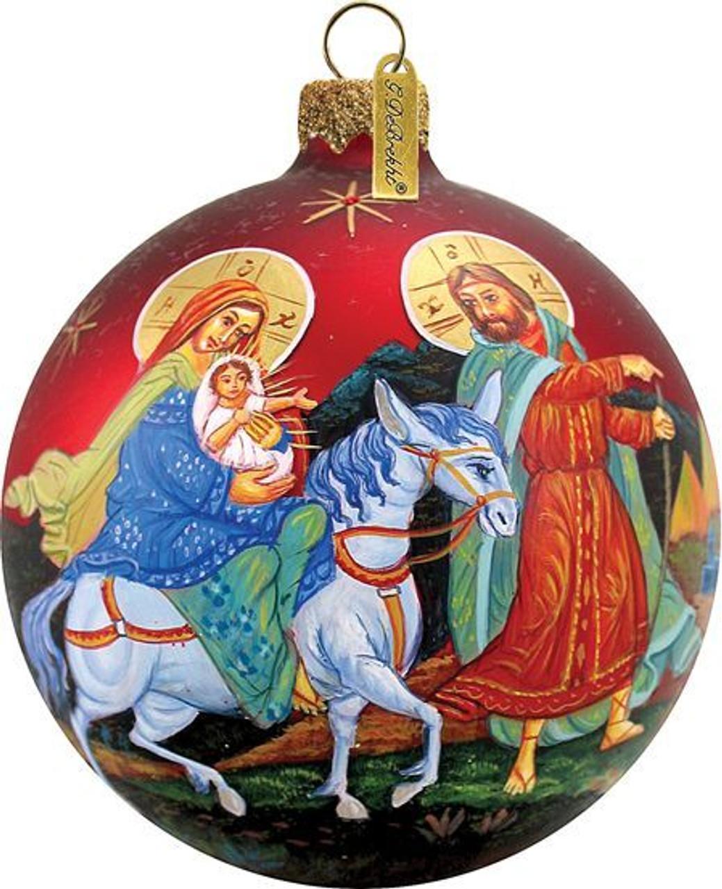 Vintage Religious Christmas Ornament: Holy Family Christmas Ornament